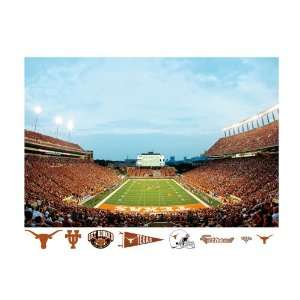 NCAA Texas Longhorns Stadium Mural Wall Graphic  Sports