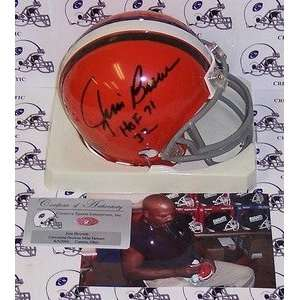 Jim Brown Autographed Cleveland Browns Riddell Mini Helmet