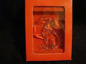 Gorham Crystal Kitty Cat ornament mint in box NICE