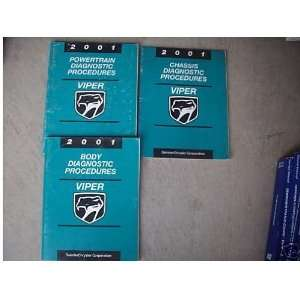 2001 Dodge Viper Service Shop Repair Manual Set Oem 01 (diagnostics
