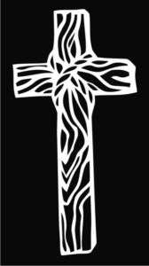 Wooden Cross Christian Die Cut Vinyl Decal Sticker