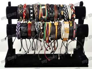 wholesale 10pcs Fashion Bracelet Leather Hemp Handmade Braided