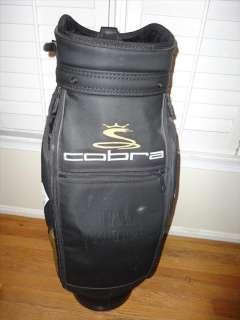 Cobra Staff Golf Bag Gold Black + Valuable bag & Cover Socks & Towel