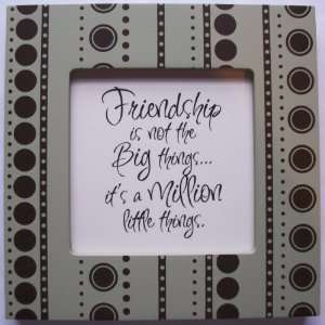 Kindred Hearts Inspirational Quote Frame (6 x 6 Green Dot