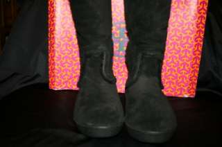 SHORT SHEARLING BUCKLE BOOTS REVA LOGO BLK 10 & 11 SALE $250