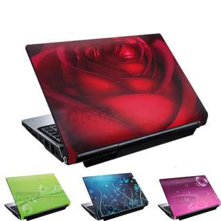 14 Inch 3D Red Rose Laptop Notebook Skin Cover Durable