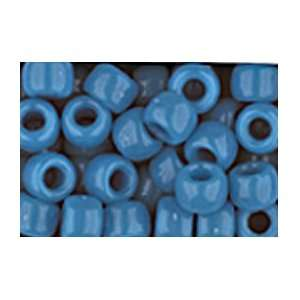 NEON BLUE CROW BEADS PONY BEADS: Arts, Crafts & Sewing