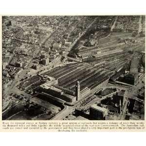 Underground Tunnels Aerial   Original Halftone Print Home & Kitchen