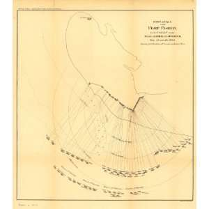 Civil War Map First attack upon Fort Fisher, by the U.S