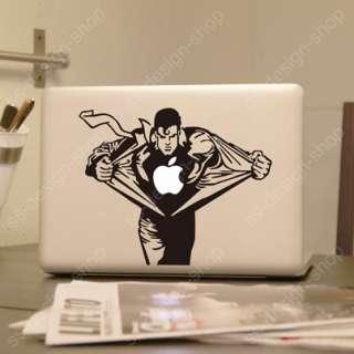 Superman Vinyl Decal Sticker Laptop Skin for Apple MacBook Pro Unibody