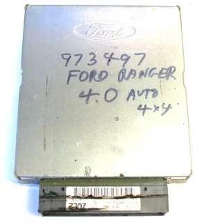 1997 Ford Ranger Mazda B 4000 Engine Computer ECU ZQL2