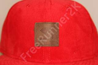 Diamond Supply Co x Corduroy Red Hat Cap Limited Edition Cassie HUF