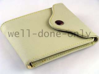 new Fold Over Snap Wallet mens bifold coin pocket gift