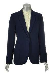 Sutton Studio Womens 1 Button Notched Collar Long Sleeve Blazer Jacket