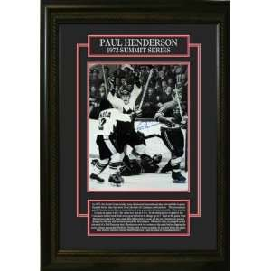 Henderson Autographed/Hand Signed 11 x 14 Etched Mat Framed Team