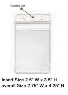 10 Clear Plastic ID BADGE HOLDERS VERTICAL/HORIZONTAL