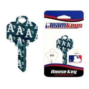 MLB Oakland Athletics As 2 Key Set   Schlage  Sports