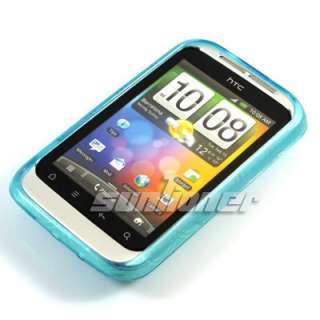 TPU Silicone Case Cover for HTC A510e Wildfire S G13 +LCD Film