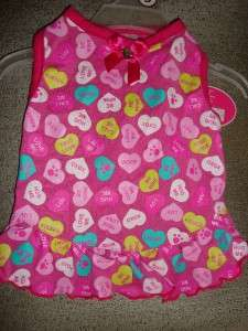 GLAMOUR to the BONE CANDY HEARTS Valentines Day PUPPY DRESS small