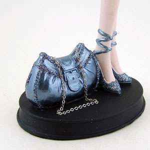 Silver Sequined Top Doll Mannequin Jewelry Stand Organizer Tree Denim