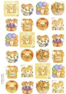 Hallmark Bumble Bee Teddy Bear Friendship Seal Stickers