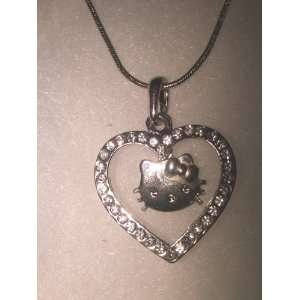 Silver Hello Kitty Necklace