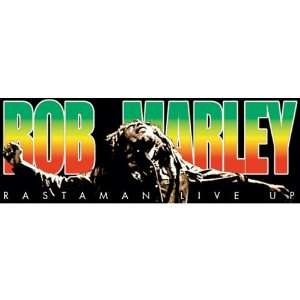 Bob Marley   Rectangle Decal   Sticker Automotive