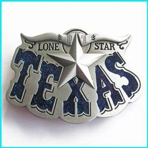New Lone Star State Texas Longhorn Belt Buckle WT 026BL