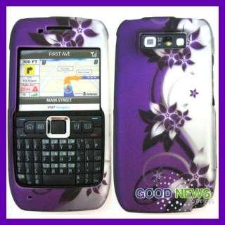 E71 Smart Phone   Vine Purple Silver Rubberized Hard Case Phone Cover