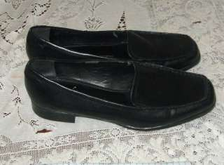 Nice Womens Franco Sarto Black Leather Loafers Sz 7 M