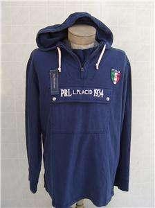 Italy Polo Ralph Lauren Mens Hoodie M Zip Sweatshirt Sweater Jacket