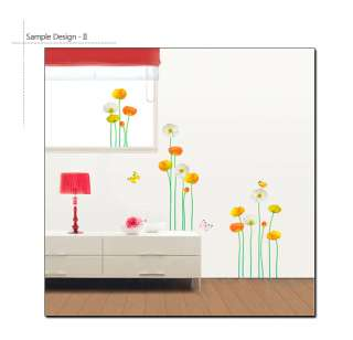 FLOWER GARDEN Mural Art Wall Decor Vinyl Sticker Decals