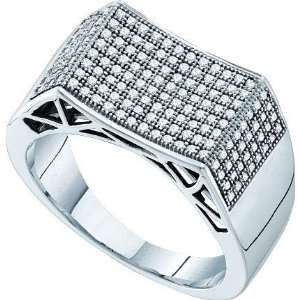 0.50ct Diamond Micro Pave Mens Ring Jewelry