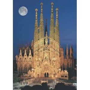 Neon La Sagrada Familia Jigsaw Puzzle 1000pc Toys & Games