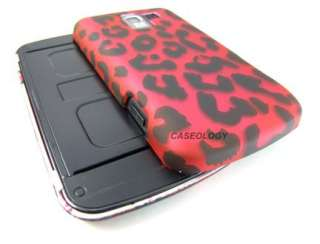 LEOPARD SKIN HARD CASE COVER LG OPTIMUS SLIDER Q NET10 PHONE ACCESSORY