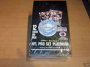 1991 NFL Pro Set Platinum Series 1 Factory Sealed Box