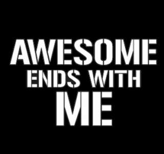 AWESOME ENDS WITH ME T SHIRT 2XL funny geek nerd cool humor beer tee