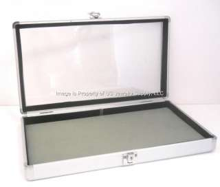 Velvet Pad Locking Key Lock Aluminum Display & Storage Case