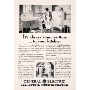 1929 Ad Antique General Electric Refrigerator Home Appliance Frank