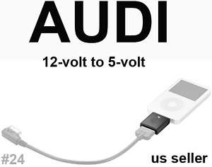 12 TO 5VOLT iPOD iPHONE CHARGER ADAPTER AUDI 000051443C