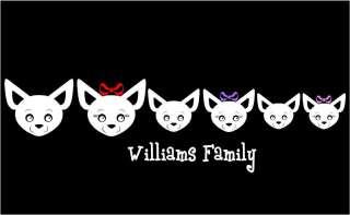 Chihuahua Family Personalized Vinyl Car Decal Sticker