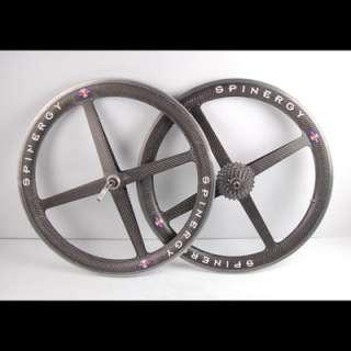Spinergy Carbon Fiber Rev X Wheels Rims Mountain Bike Tubular Front