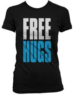 FREE HUGS Juniors Girls T Shirt Love Big and Bold Funny Statements