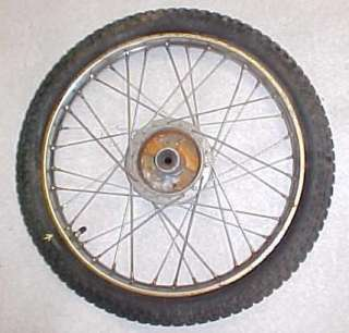 64 69 HONDA CS90 S90 SUPER 90 REAR WHEEL RIM AND TIRE WITH SHOCK