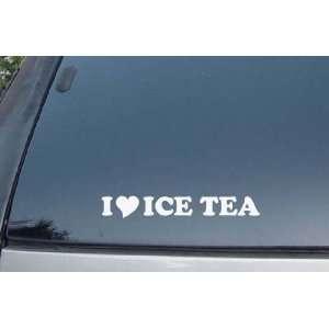 Love Ice Tea Vinyl Decal Stickers