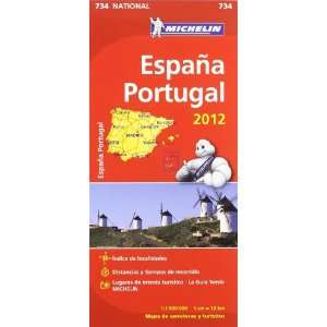 ESPAÚA PORTUGAL (734) MAPA *12*.MICHELIN (9782067171404