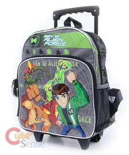 Ben 10 Alien Force Roller School Backpack Rolling Bag  12in Gray