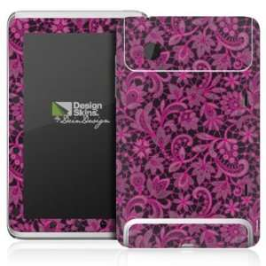 Design Skins for HTC Flyer   Dark Pink Embroidery Design