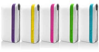 Marware Accent Slim Premium Leather Flip Top Case Cover Apple iPhone 4
