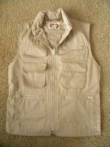 Republic Safari Photographer Vest Jungle Khaki Fishing 80s Small